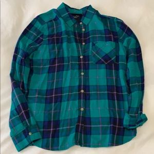 Plaid AE Button Down